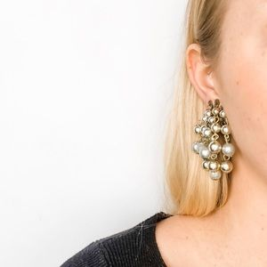 Vintage Full Beaded Clip-On Earrings
